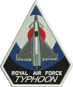 Royal Air Force Typhoon Embroidered Badge